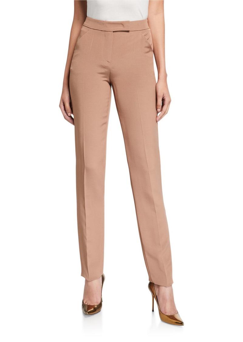Giorgio Armani Classic Zip-Front Pants
