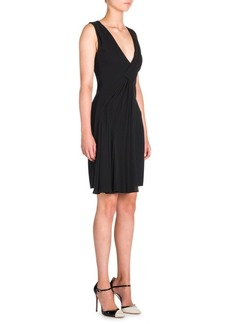 Armani Deep V-Neck Dress