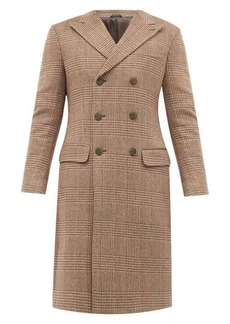 Giorgio Armani Double-breasted houndstooth-check cashmere coat