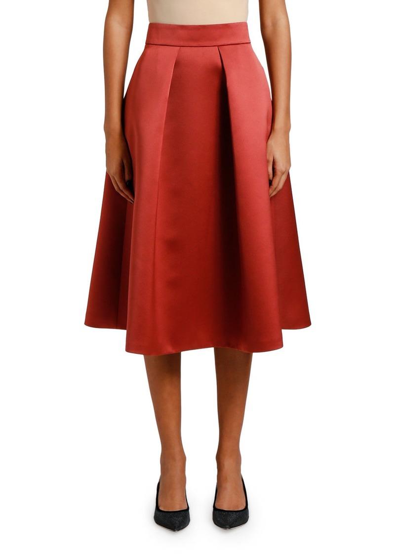 Giorgio Armani Duchess Satin A-Line Skirt