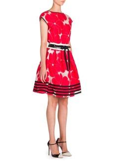 Armani Floral-Print Jacquard Dress