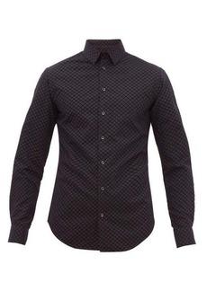 Giorgio Armani Geometric flocked-velvet shirt