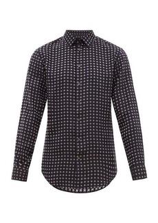 Giorgio Armani Geometric-jacquard satin shirt