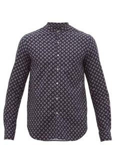 Giorgio Armani Geometric-print cotton-herringbone shirt