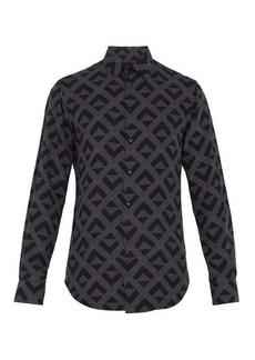 Giorgio Armani Geometric-print lyocell shirt