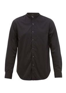 Giorgio Armani Grandad-collar cotton-blend shirt