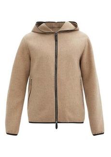 Giorgio Armani Hooded felted-cashmere jacket
