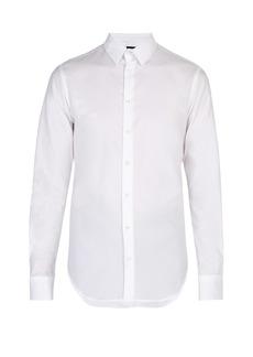 Giorgio Armani Logo-jacquard cotton shirt