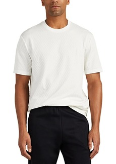 Giorgio Armani Men's Diamond-Pattern Cotton T-Shirt