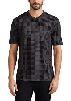 Giorgio Armani Men's Geometric Jersey T-Shirt