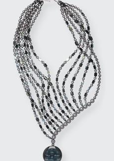 Giorgio Armani Multi-Strand Copper and Resin Beaded Necklace