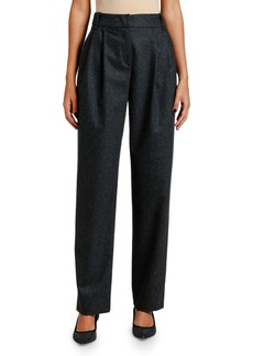 Giorgio Armani Pleated Flannel Pants
