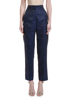 Giorgio Armani Printed Silk Jacquard High-Rise Trousers