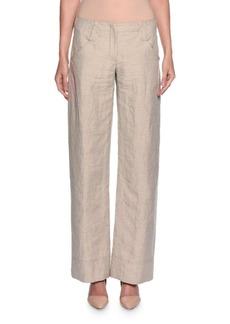 Armani Relaxed Logo-Pocket Pants  Beige