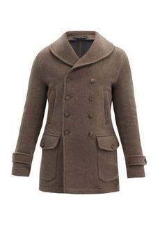 Giorgio Armani Shawl-lapel double-breasted cashmere coat