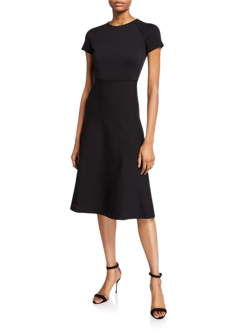 Giorgio Armani Short-Sleeve Knitted Dress
