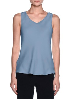 Armani Silk Charmeuse Scoop-Neck Shell