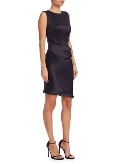 Armani Silk Satin Ruched Dress