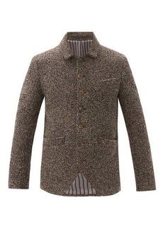 Giorgio Armani Single-breasted cashmere-blend bouclé jacket