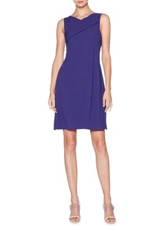 Armani Sleeveless Grecian-Drape Dress  Indigo