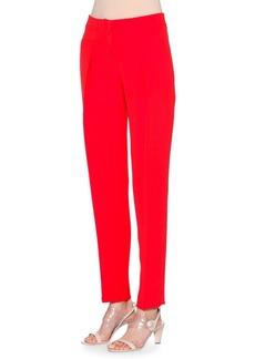Armani Slim-Leg Silk-Cady Pants