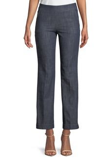Armani Straight-Leg Crop Denim Trousers with Side Zip