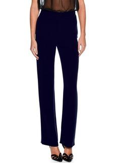 Armani Straight-Leg Silk Pants