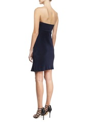 Armani Strapless Plisse Jersey Dress