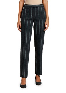Giorgio Armani Striped Flannel Zip-Front Pants