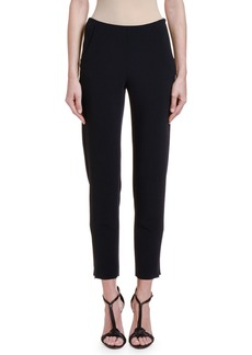 Giorgio Armani Textured Stretch-Wool Slim-Leg Pants w/ Zip Cuffs