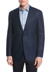Giorgio Armani Textured Wool Two-Button Sport Coat  Blue