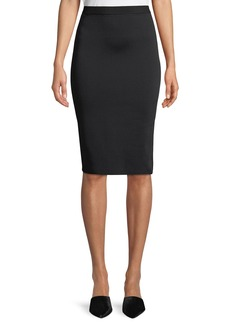 Giorgio Armani Viscose Knit Knee-Length Pencil Skirt
