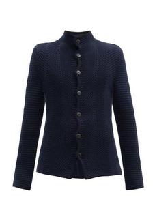 Giorgio Armani Wave-knitted buttoned cardigan