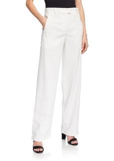 Giorgio Armani Wide-Leg Linen Blend Pants