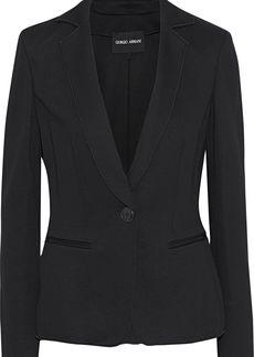 Giorgio Armani Woman Cady Blazer Black