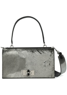 Giorgio Armani Woman Metallic Calf Hair Shoulder Bag Metallic