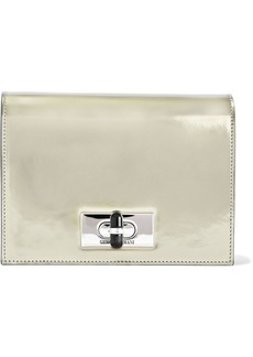 Giorgio Armani Woman Mirrored-leather Clutch Gold