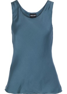 Giorgio Armani Woman Silk Tank Storm Blue