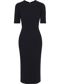 Giorgio Armani Woman Wool-blend Midi Dress Black
