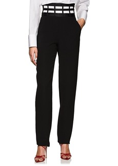 Giorgio Armani Women's Caged-Waistband Silk Trousers