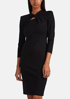 Giorgio Armani Women's Compact-Knit Twist-Neck Dress