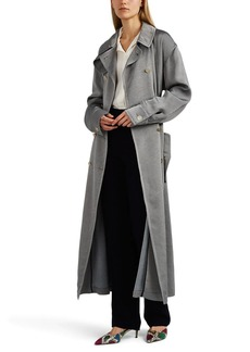 Giorgio Armani Women's Cotton-Blend Double-Breasted Trench Coat