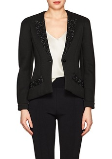 Giorgio Armani Women's Crystal-Embellished Knit One-Button Blazer