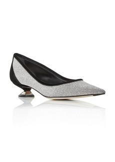 Giorgio Armani Women's Decollette Glitter Low Heel Pumps