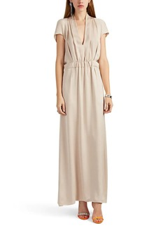 Giorgio Armani Women's Gathered Silk Satin Gown