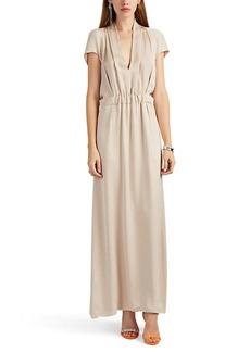 Giorgio Armani Women's Gathered Silk Satin Gown