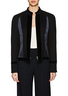 Giorgio Armani Women's Mixed-Fabric Fitted Jacket