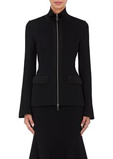 Giorgio Armani Women's Ottoman-Knit Zip-Front Jacket