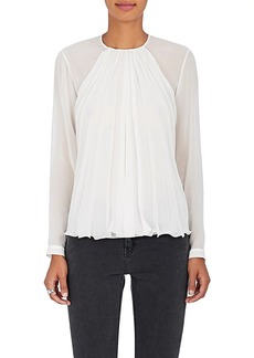 Giorgio Armani Women's Pleated Mulberry Silk Blouse