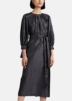 Giorgio Armani Women's Raw Silk Belted Dress